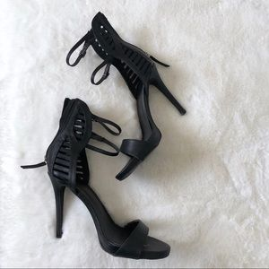Missguided Shoes - Missguided black strappy heels